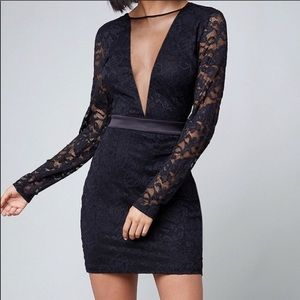 Laced Long Sleeved Dress